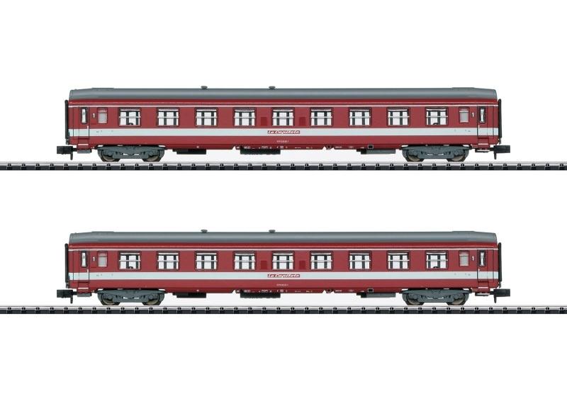 Ergänzungswagen-Set Le Capitole der SNCF, Minitrix Spur N