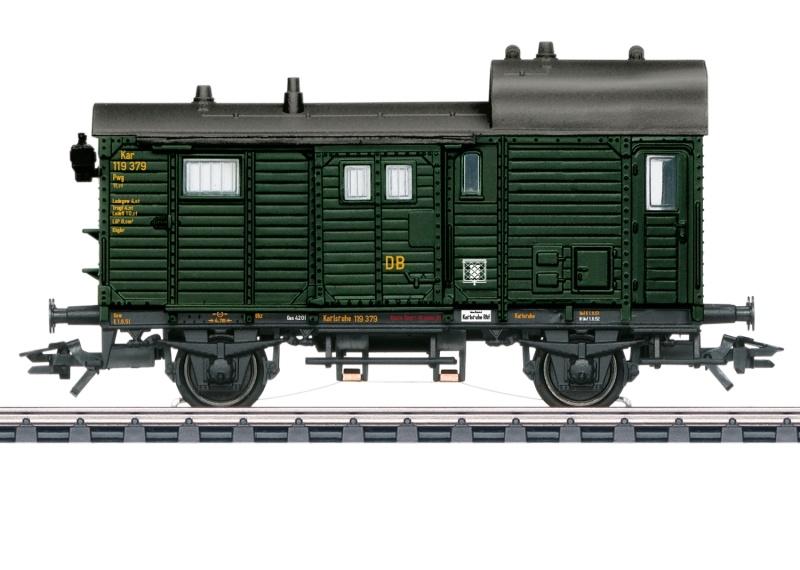 Güterzug-Gepäckwagen Pwg Pr 14 der DB, AC, Spur H0