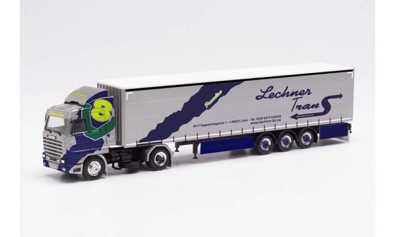 Scania 143 420 V8 Streamline Gardinenplanen-Sattelzug, 1:87