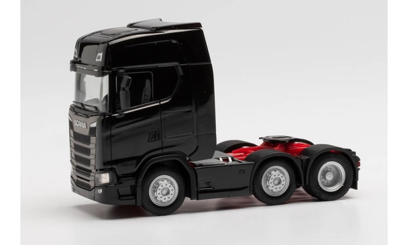 Scania CS HD 6x2 Zugmaschine, schwarz, 1:87 / Spur H0