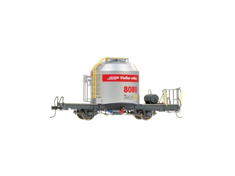 Zementsilowagen Uce 8080 mit rotem Band der RhB, Spur 0m
