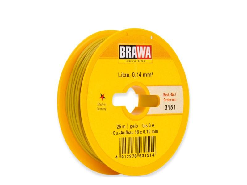 Schaltlitze 0,14 mm², 25 m Spule, gelb