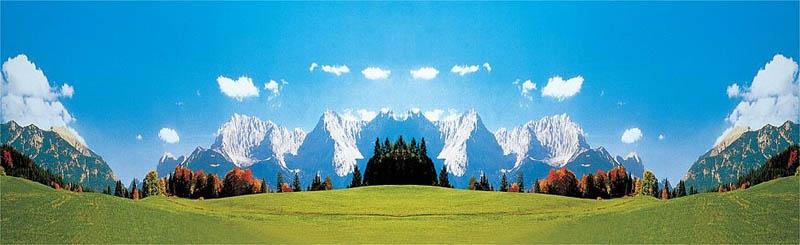 Modellhintergrund Karwendelgebirge 3200 x 970 mm