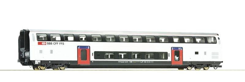 Doppelstockwagen IC 2020 2. Klasse der SBB, DC, Spur H0