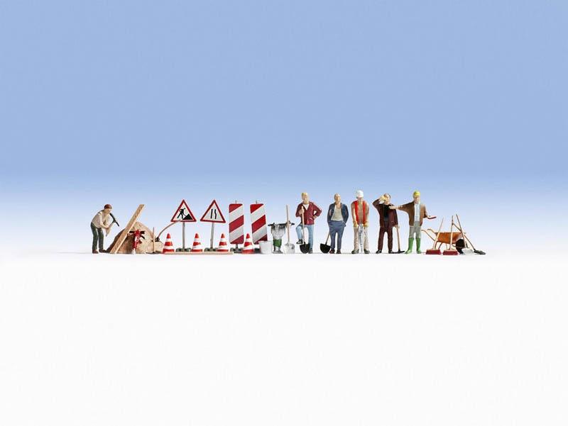 Bauarbeiter und Zubehör Figuren Spur H0