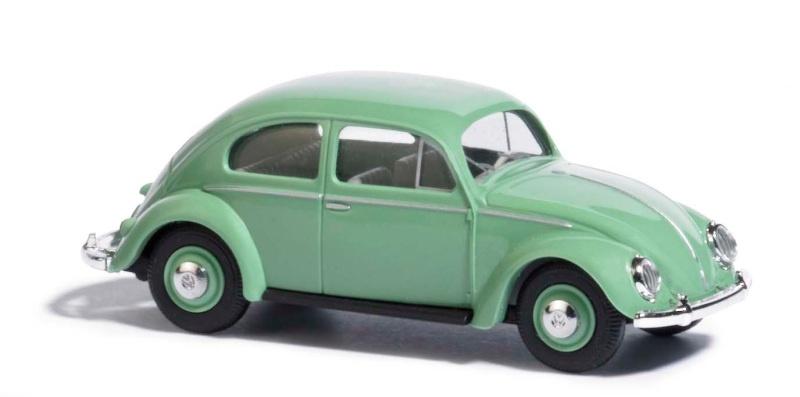 VW Käfer mit Brezelfenster, Grün, Spur H0