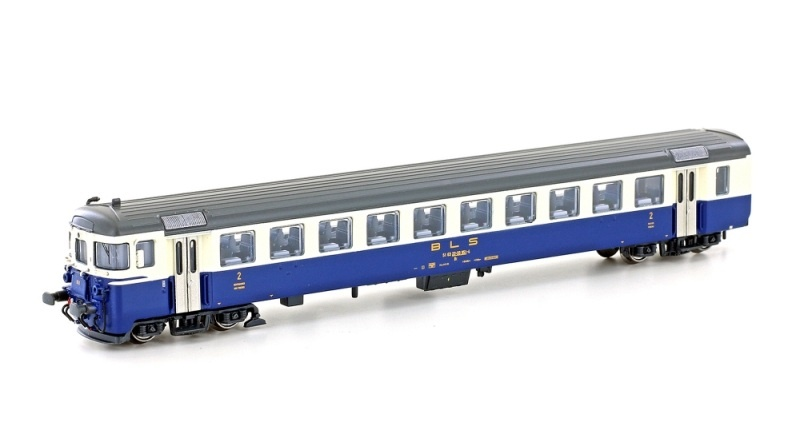 Pendelzug-Steuerwagen Bt BLS, Ep.IV, creme/blau, Spur N