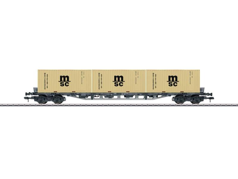 Mehrzweck-Container-Tragwagen Sgjs 716 MSC DB Spur 1