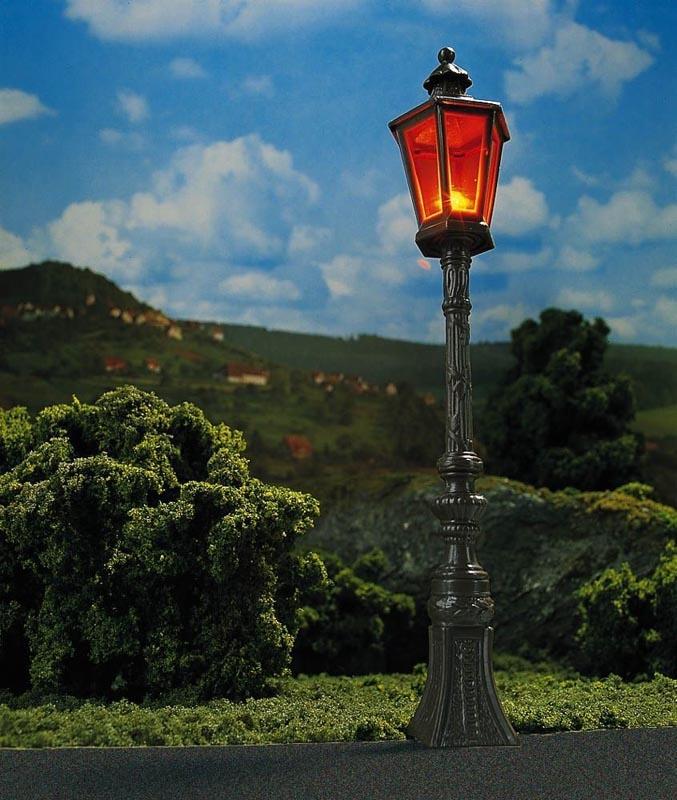 2 Oldtimer-Straßenlampen, braun, Spur 1/G