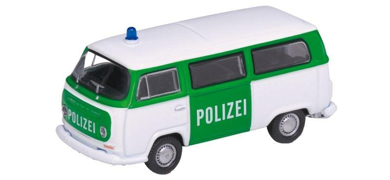 VW Bus T2 1972 Polizei, Fertigmodell, Spur H0