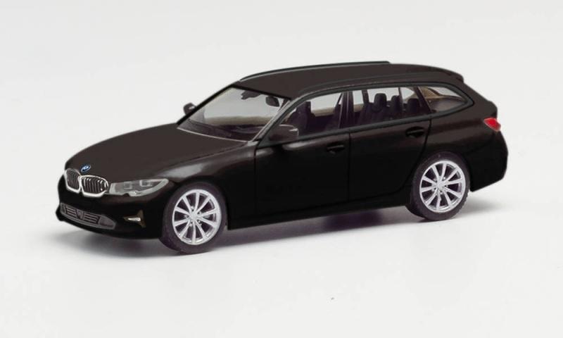 BMW 3er Touring, brillantschwarz, 1:87 / Spur H0
