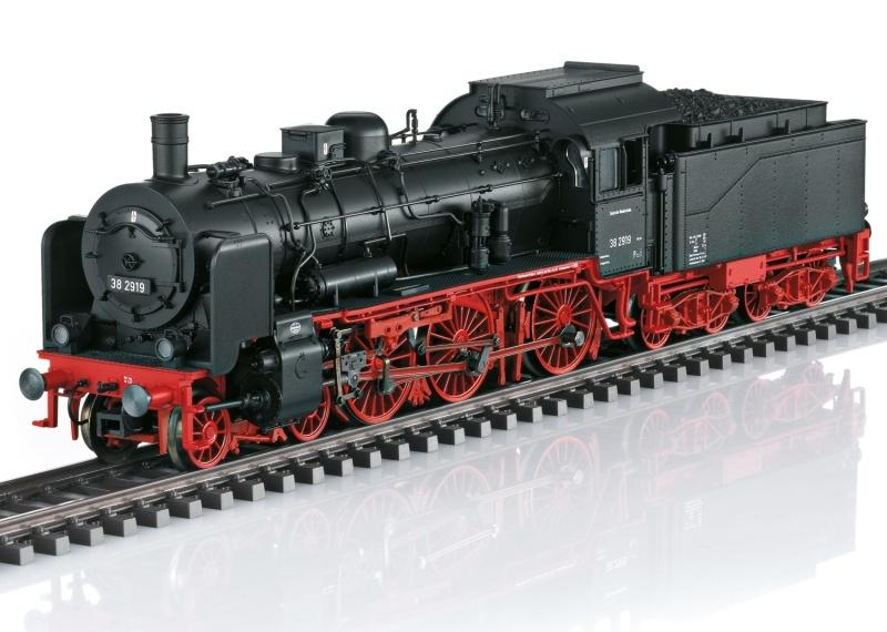 Dampflokomotive Baureihe 38 der DB, DC, Sound, Spur H0