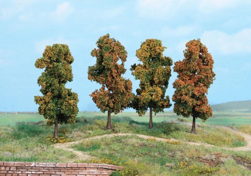 4 Herbstbäume 11 cm