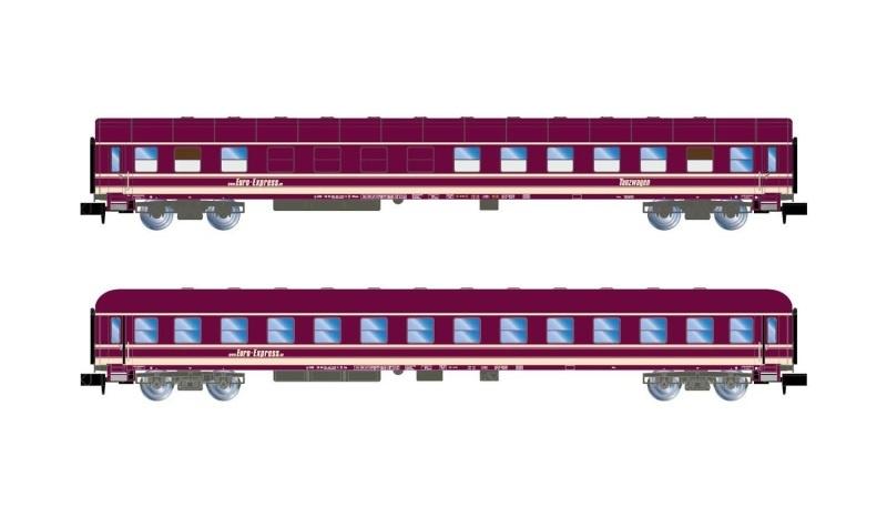 Euro-Express, 2er-Set Reisezugwg, (ex TMFB), Ep.V-VI, Spur N