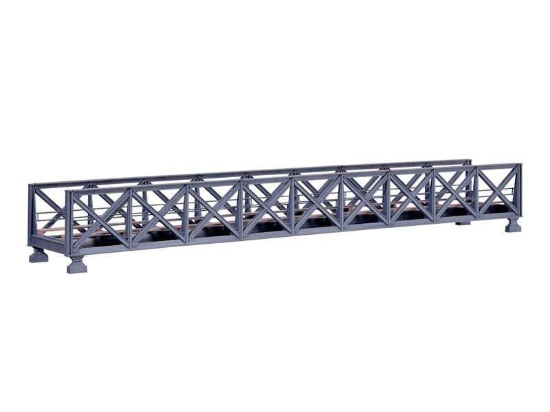 Fachwerk-Stahlbrücke, eingleisig, Bausatz, Spur H0