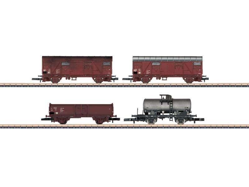 Güterwagen-Set der DR Gs 1204, Uhk 0700, El 5044 Spur Z