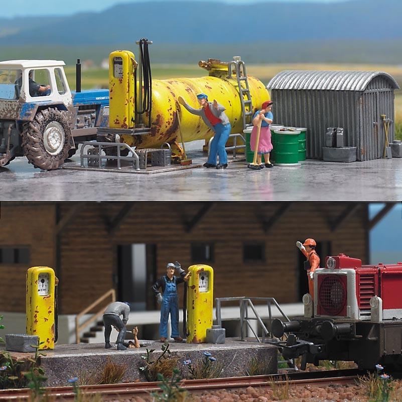 Diesel-Tankstelle, Spur H0