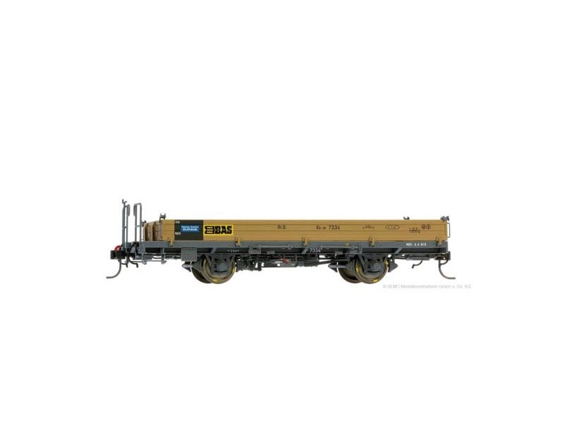 Niederbordwagen BAS Kk-w 7334  der RhB, Spur 0m