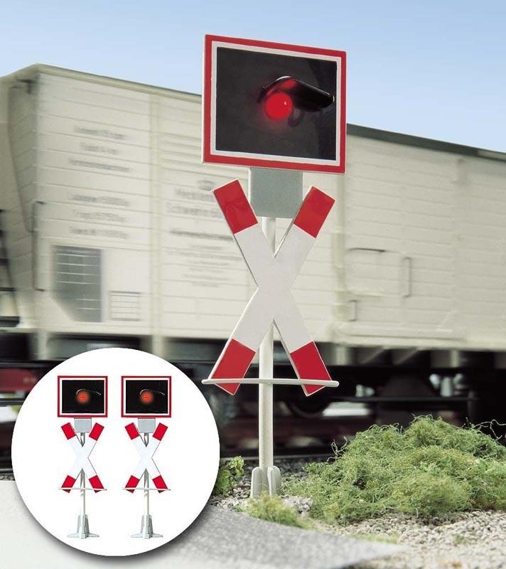 Warnblinkanlage für Bahnübergang, Spur 1/G