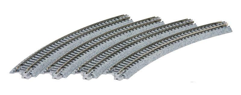 Gleis gebogen R 348-30°, 4 Stück, Spur N