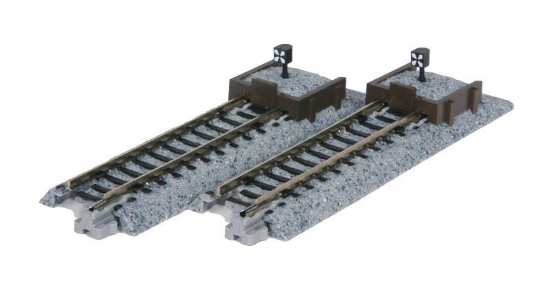 Gleis gerade 62mm mit Prellbock Holz, 2 Stück, Spur N