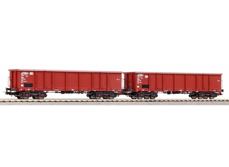 2er Set Offene Güterwagen Eaos der DB, Ep. IV, DC, Spur H0