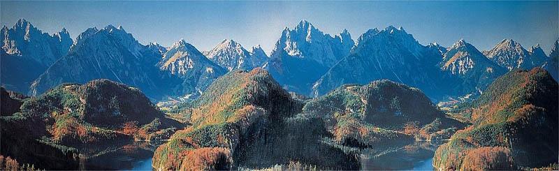 Modellhintergrund Neuschwanstein 3200 x 970 mm