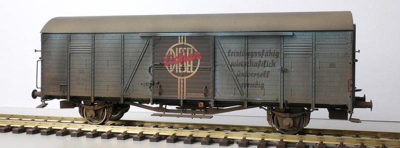 Gedeckter Güterwagen Gltr 23 Eicher, DB, Patiniert, DC, H0