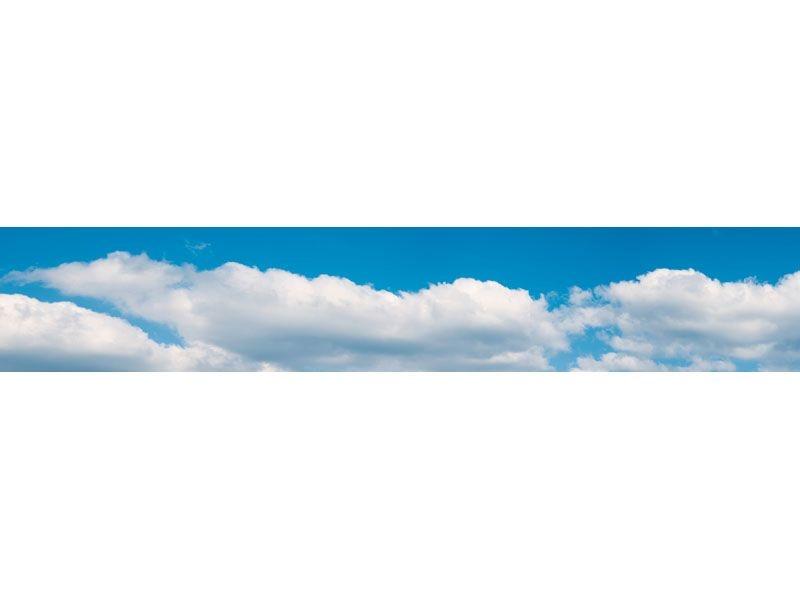 Hintergrundkulisse Wolken, dreiteilig, 266 x 48 cm