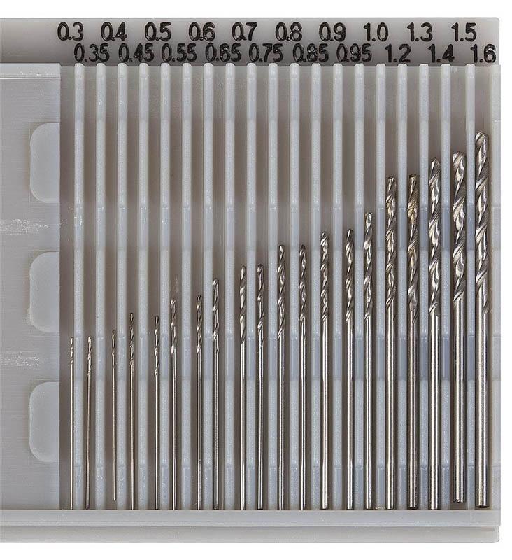 Bohrersatz 20-teilig 0,3 - 1,6 mm