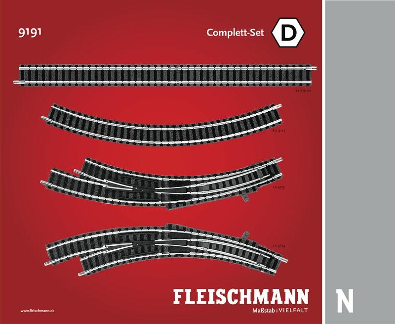 Gleiserweiterung Complett-Set D N-Gleis mit Bettung