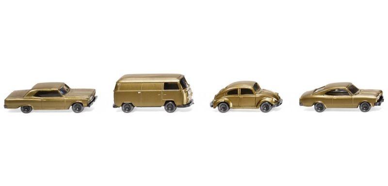 Drei Pkw und ein Kleinbus 50 Jahre N-Spur 1:160 / Spur N
