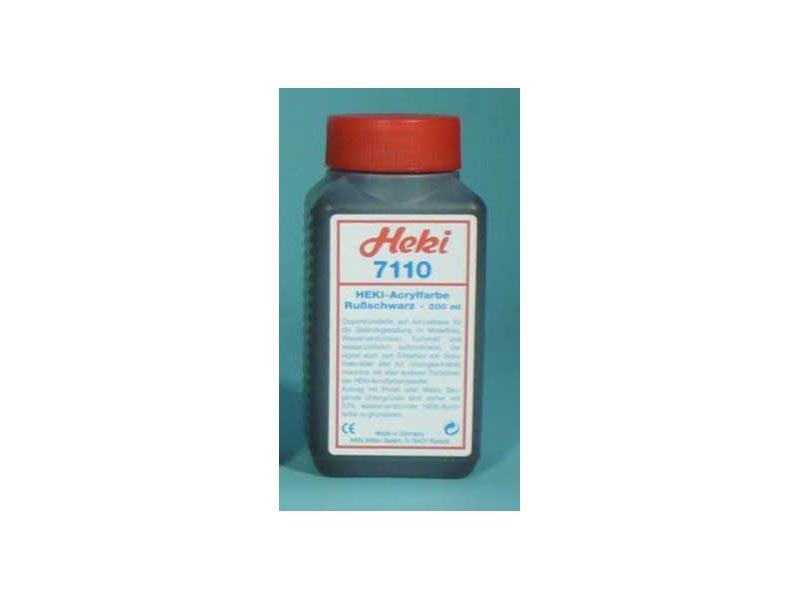 Acrylfarbe Schwarz, 200 ml