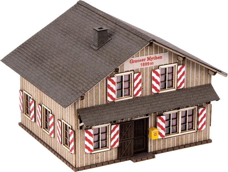 Bergrestaurant Grosser Mythen Laser-Cut Bausatz Spur H0