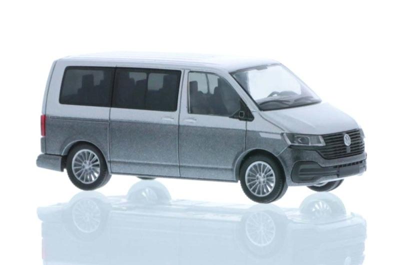 Volkswagen T6.1 Bus KR reflexsilber/indiumgrau, 1:87 / H0