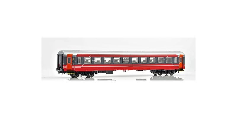 Topline Personenwagen B3-6.25624 der NSB,rot/grau/silber, H0