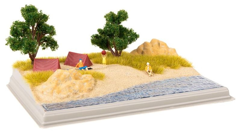 Mini-Diorama Strand Bausatz, Spur H0