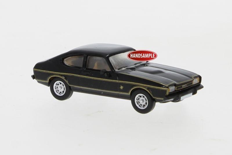 Ford Capri MK II schwarz, Dekor, 1974, 1:87 / Spur H0