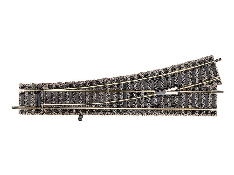 Weiche links Handbetrieb, 200 mm, 18° Profi-Gleis H0