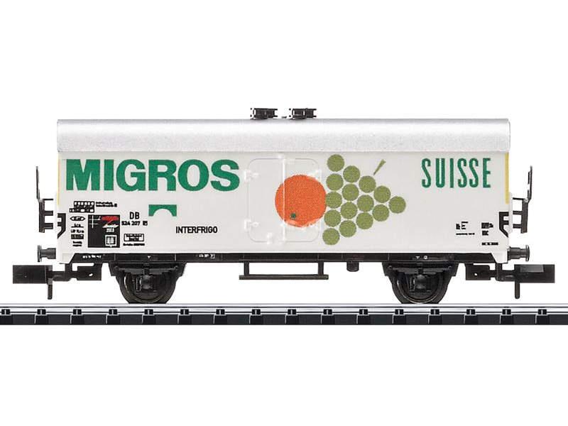 Kühlwagen Tehs 50 der DB, Minitrix Spur N