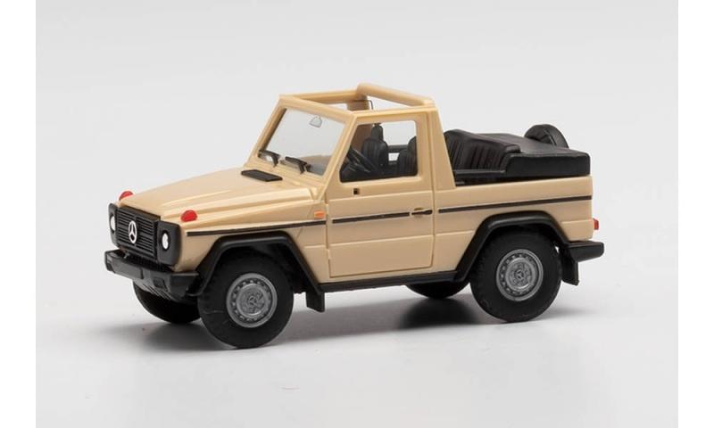 Mercedes-Benz G-Modell Cabrio, sandbeige, 1:87 / Spur H0