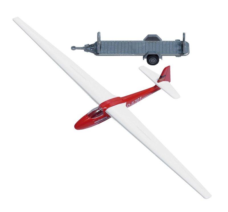 Segelflugzeug mit Anhänger, 1:87 / Spur H0
