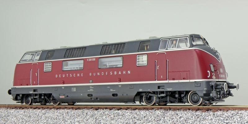Diesellok V200 008 DB, altrot, III, Sound+Rauch, DC / AC, H0
