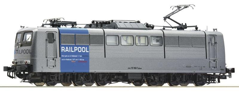 Elektrolokomotive BR 151 der Railpool, DC, Spur H0