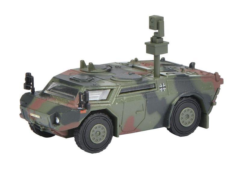 Fennek Panzerspähwagen Bundeswehr flecktarn 1:87 / Spur H0