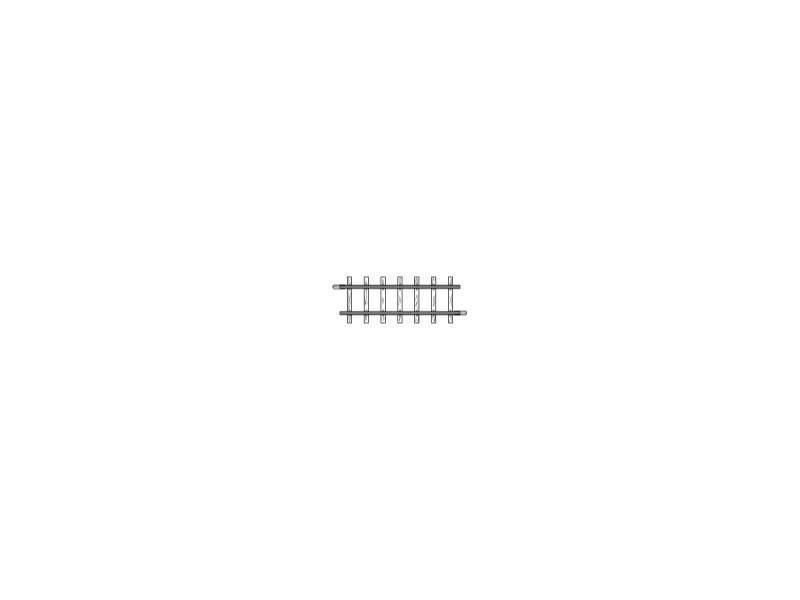 Gerades Gleis, 56,5 mm, Spur H0m