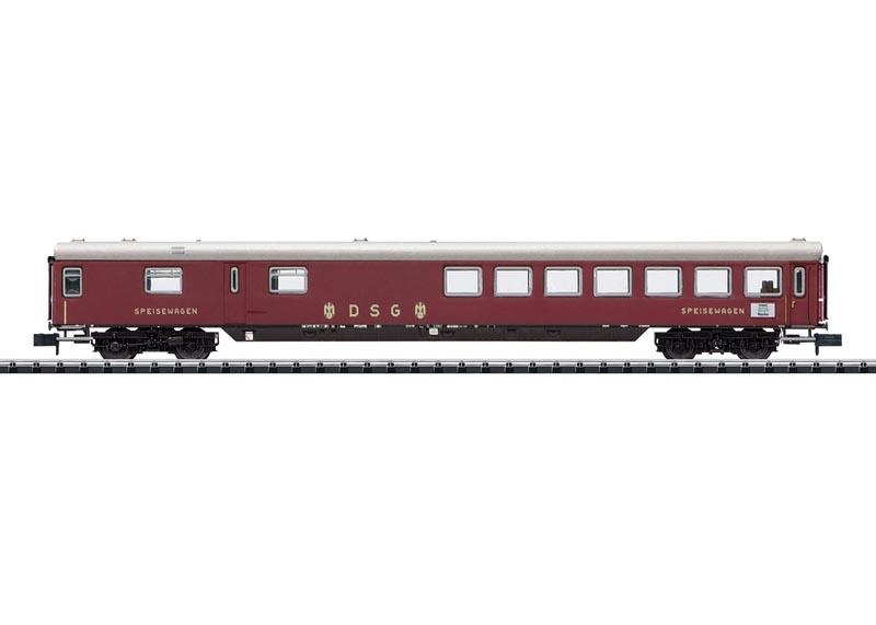 Schnellzug-Speisewagen WR4üm-64 der DB, Minitrix Spur N