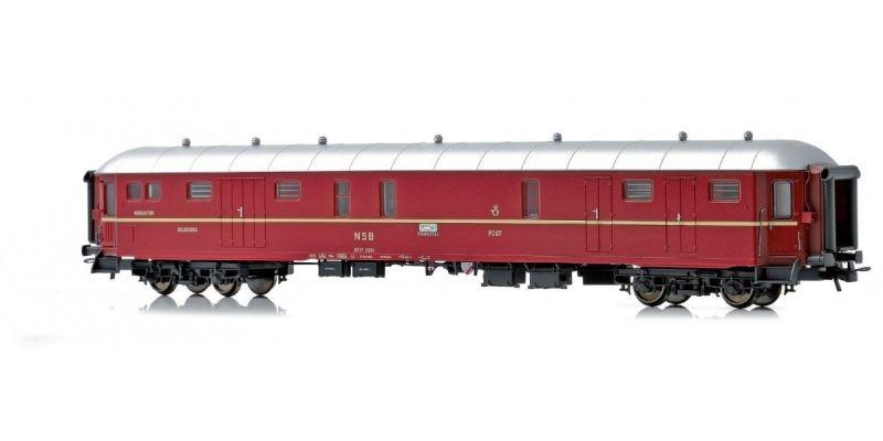 Topline Gepäck- und Schaffnerwagen DF37 21310 der NSB, H0