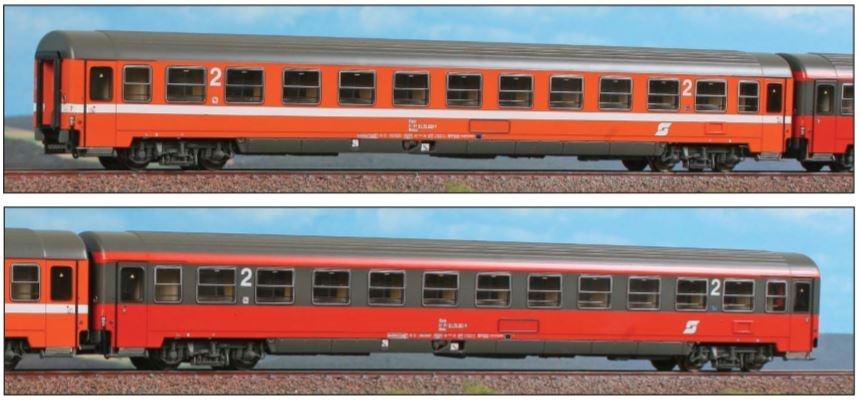 2tlg. Set Personenwagen Adria Express Bmoz + Bmz, DC, H0