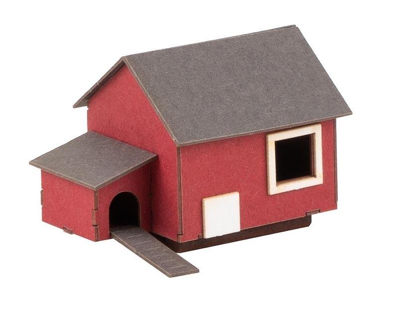 Hühnerhaus Lasercut-Modell, Spur H0